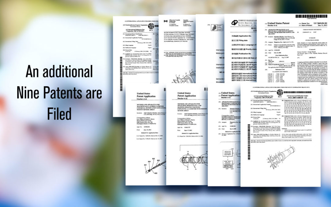 Additional Nine Patents Filed
